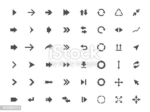 Arrow icons set, arrow sign vector illustration