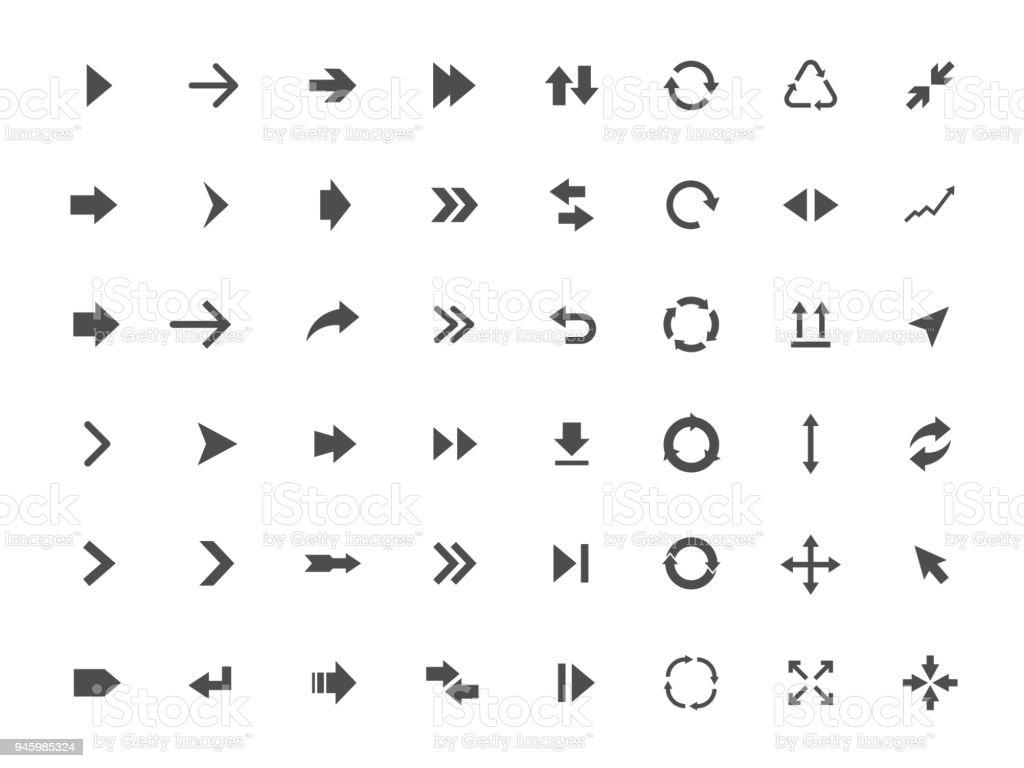 Pfeil-Symbole-set – Vektorgrafik