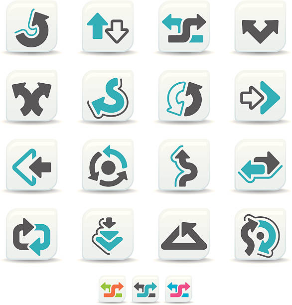arrow icons | simicoso collection vector art illustration