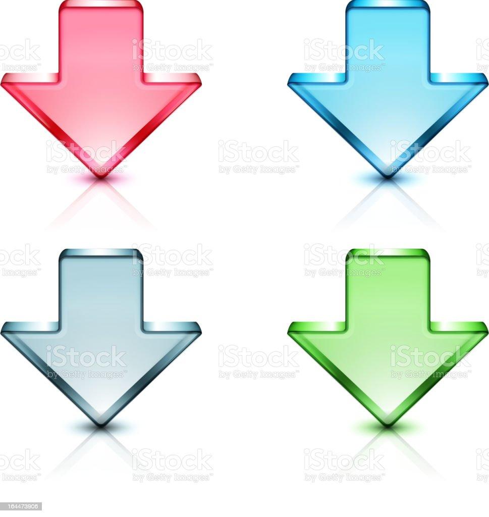 arrow icons vector art illustration