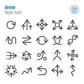 Arrow Icons - Vector Line Series