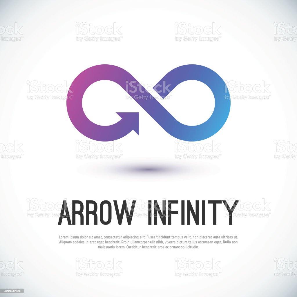 Arrow infinity business vector logo vector art illustration
