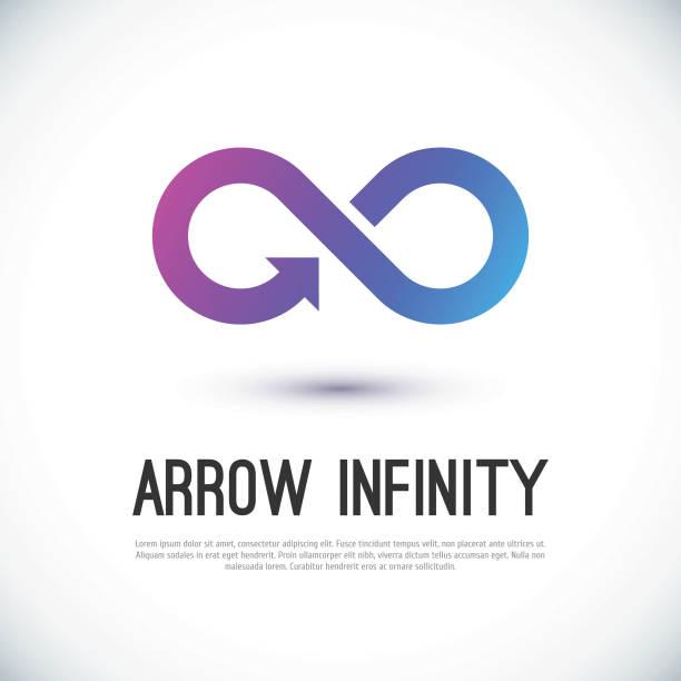 Arrow infinity business vector logo Arrow infinity business vector logo design template for your design. eternity stock illustrations