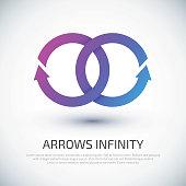 Arrow infinity business vector logo design template for your design.