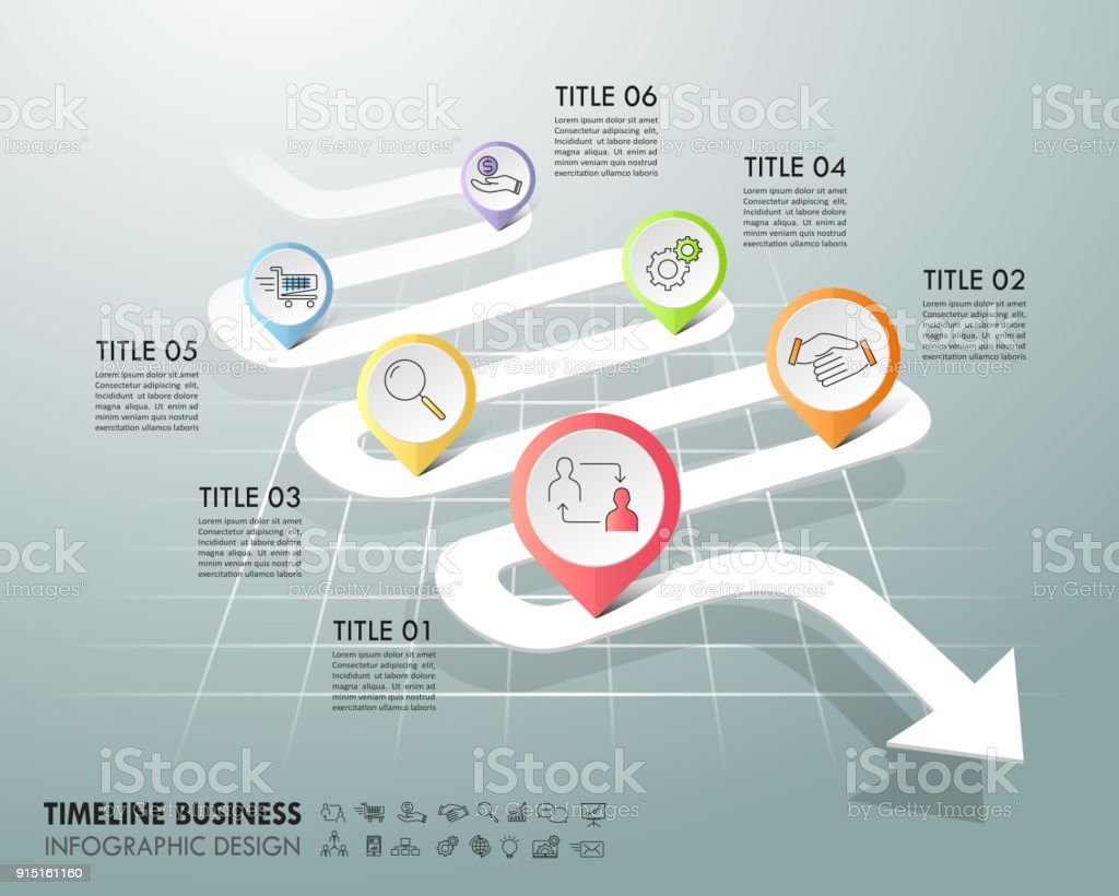 Arrow Infographic Template 6 Options Business Concept Can Be Used ...