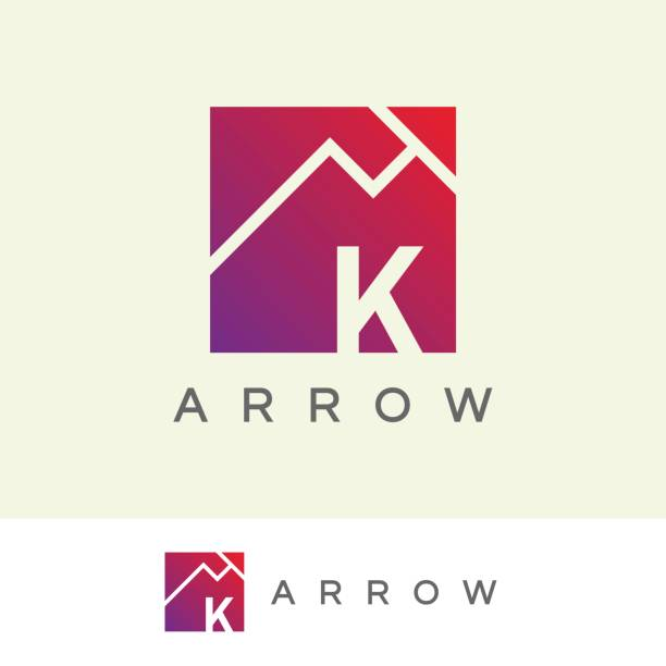 arrow initial Letter K icon design icon template with arrow element k logo stock illustrations
