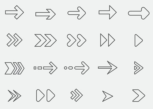 Arrow Line Icons 1
