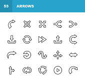20 Arrow Outline Icons.