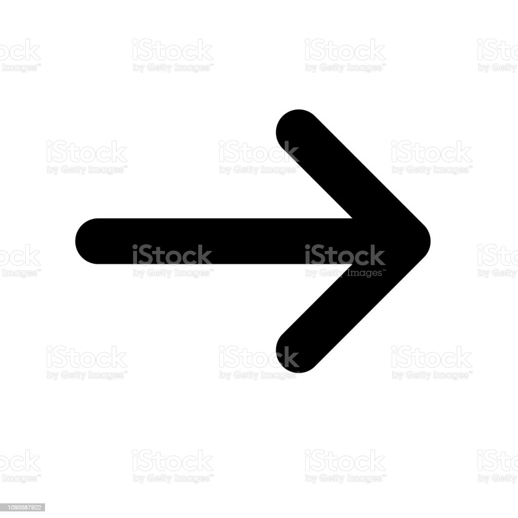 Arrow Line Vector Icon on white background