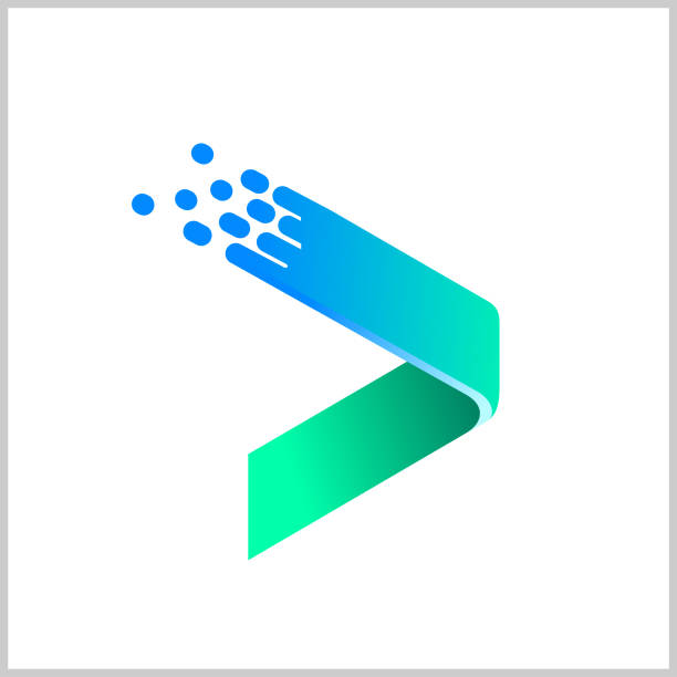 arrow logo vector - в пути stock illustrations