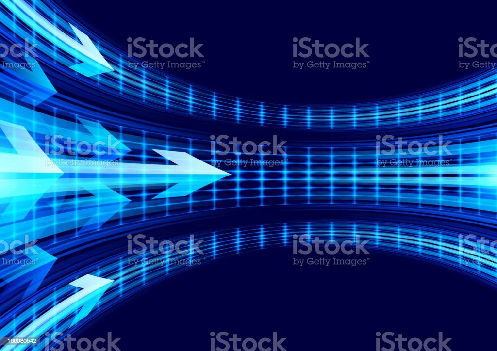 Arrow on Abstract Background royalty-free stock vector art