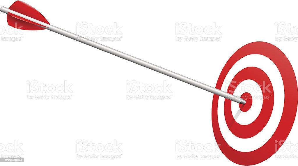 Arrow on Target Realistic Vector royalty-free stock vector art