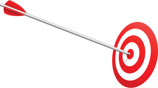 Arrow on Target Realistic Vector