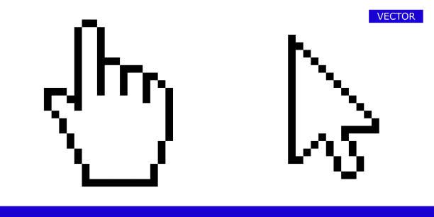 箭頭圖元游標和圖元滑鼠手游標圖示向量圖示集 - 游標 幅插畫檔、美工圖案、卡通及圖標