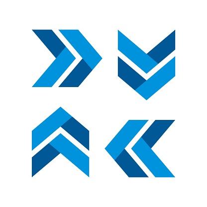 Arrow Plaited Logo Template Illustration Design. Vector EPS 10.