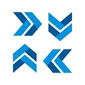 istock Arrow Plaited Logo Template Illustration Design. Vector EPS 10. 1224013366