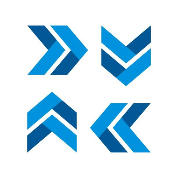 Arrow Plaited Logo Template Illustration Design. Vector EPS 10. Arrow Plaited Logo Template Illustration Design. Vector EPS 10. the way forward stock illustrations