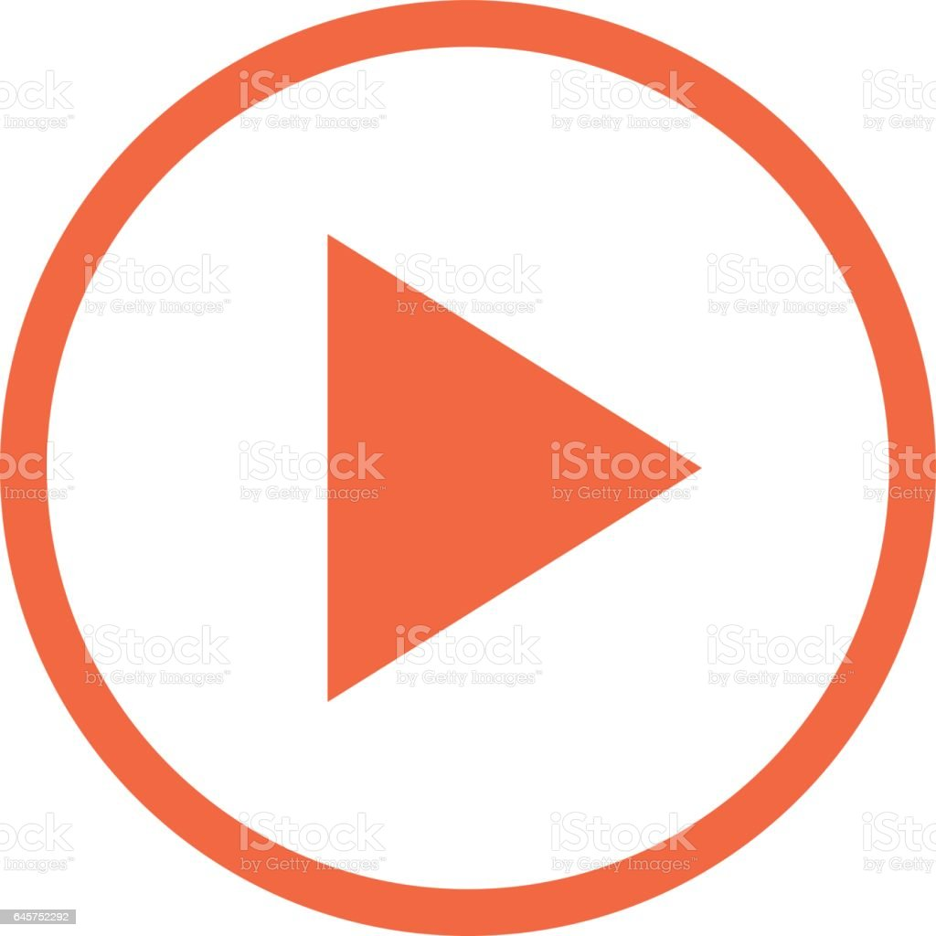 Arrow Play Button Linear Circle Icon
