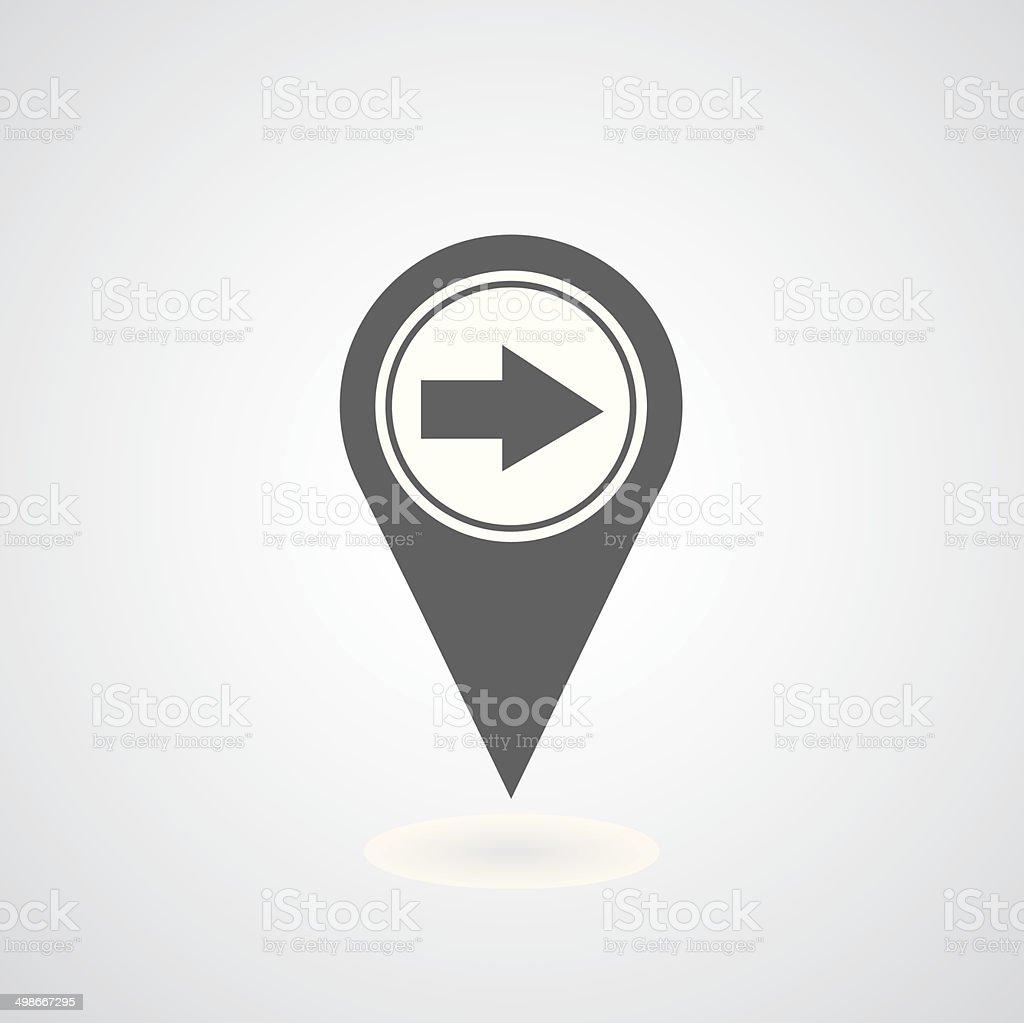 arrow pointer symbol vector art illustration