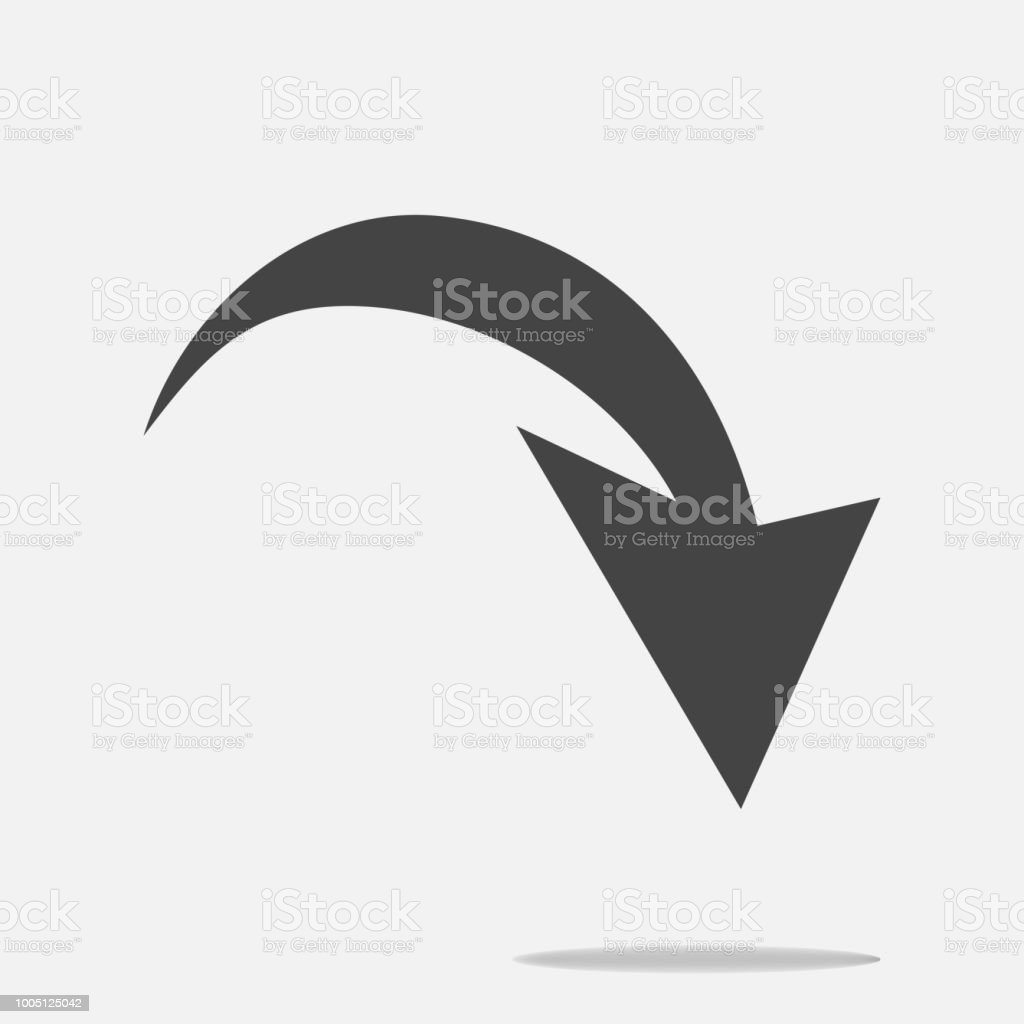 Arrow Pointing Down Arrow Vector Icon Stock Vector Art More Images