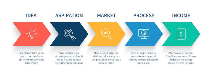 arrow infographics stock illustrations