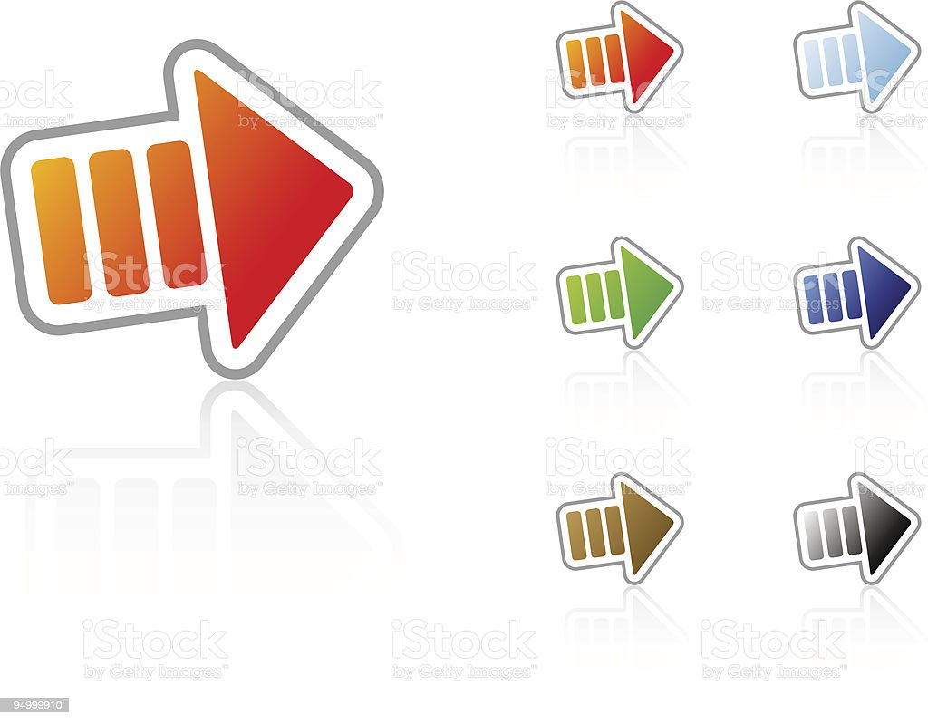 Arrow Right Icon royalty-free stock vector art