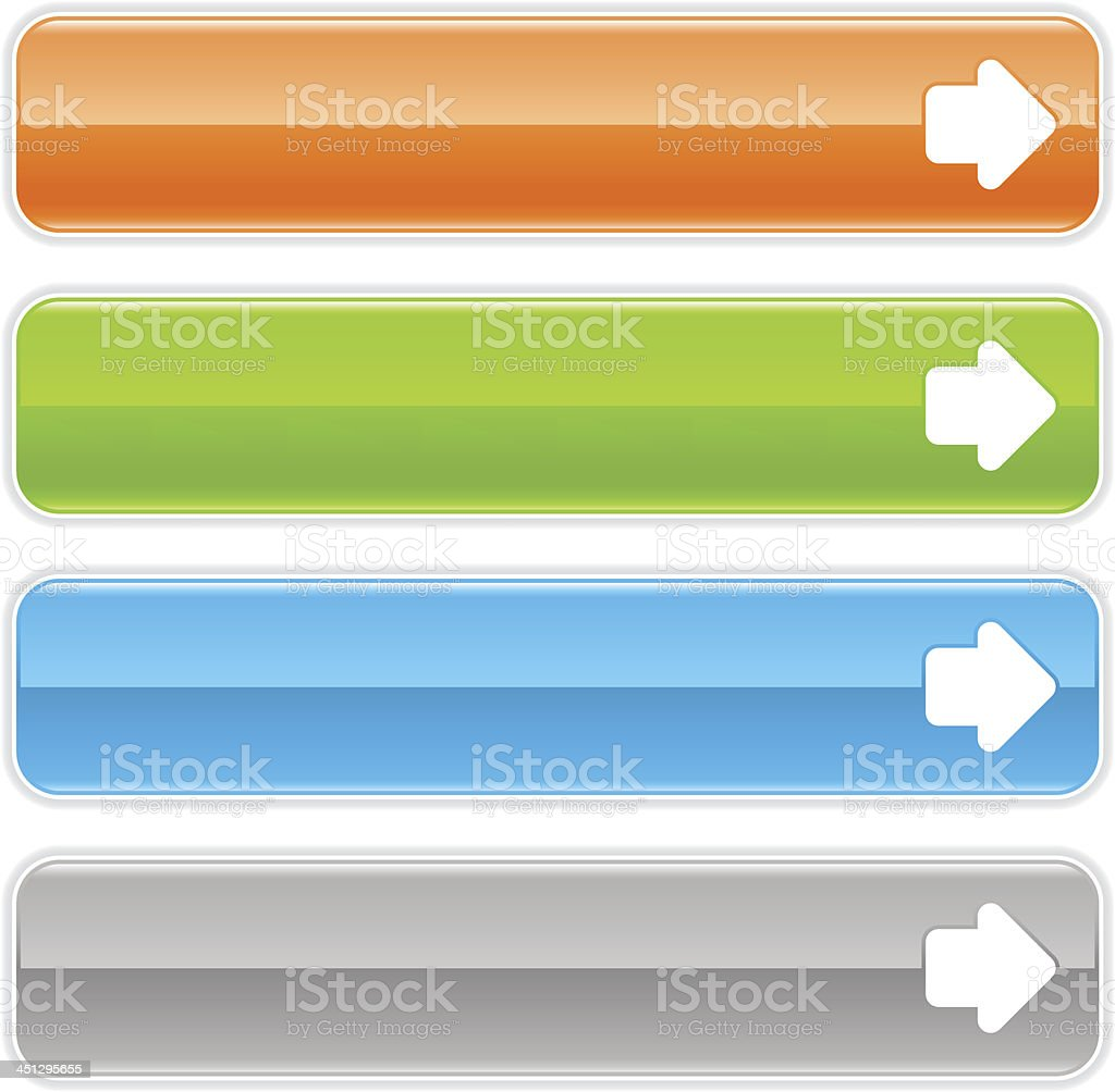 Arrow Right Sign Direction Glossy Icon Orange Green Blue Button ...