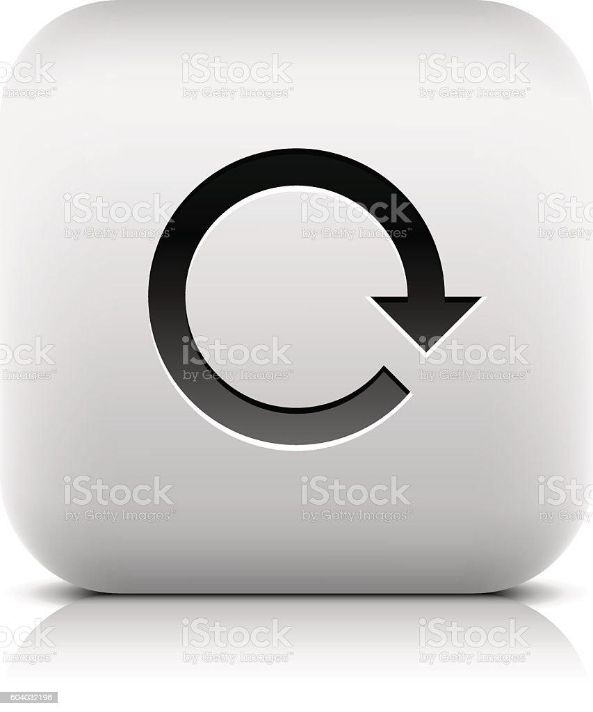 Arrow rotation, reset, loop, refresh, reload icon vector art illustration