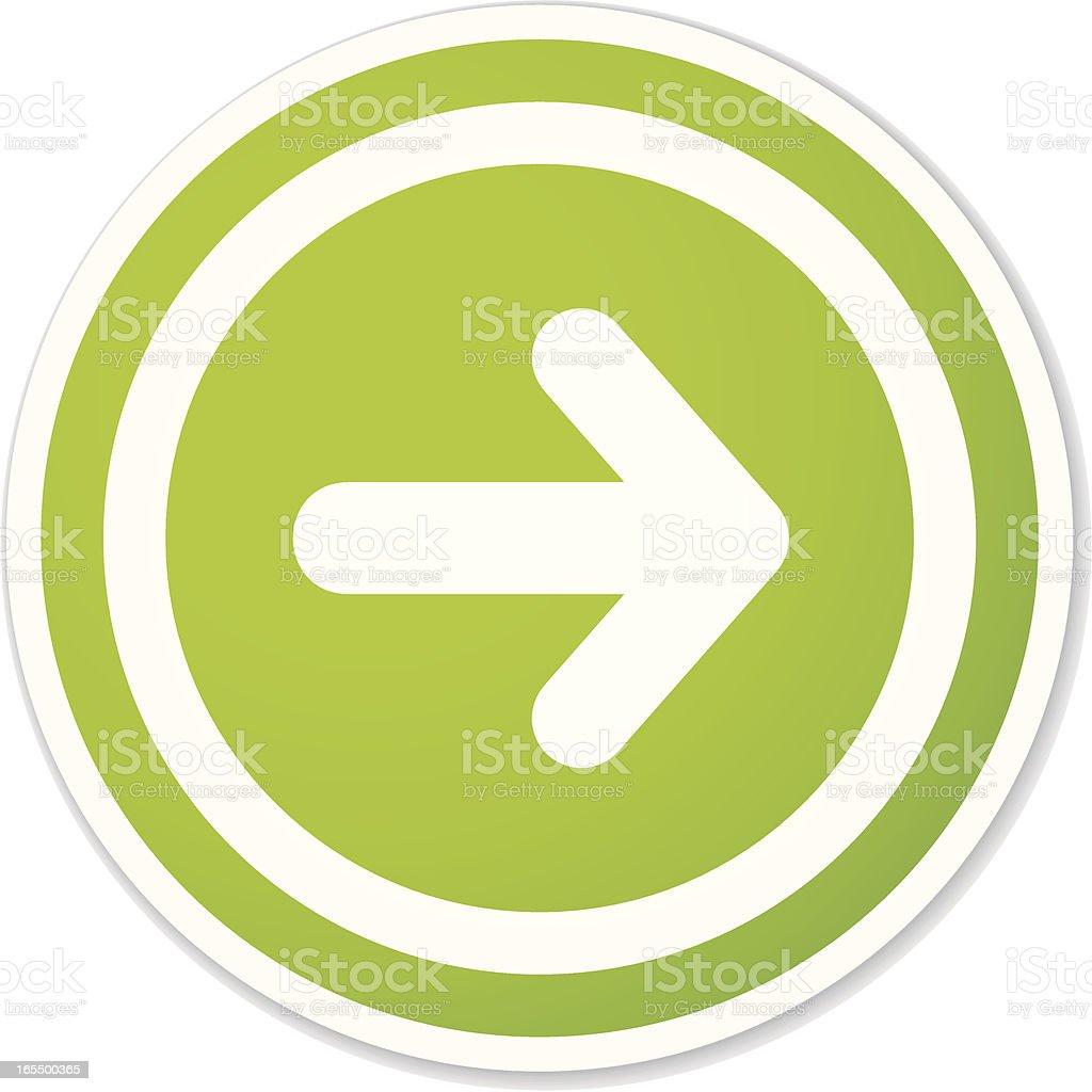 arrow round sticker royalty-free stock vector art