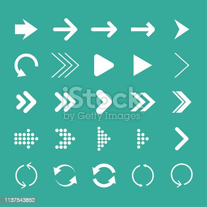 Arrow set, isolated, vector illustration,  arrow icon