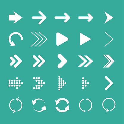 Arrow set, isolated, vector illustration, arrow icon