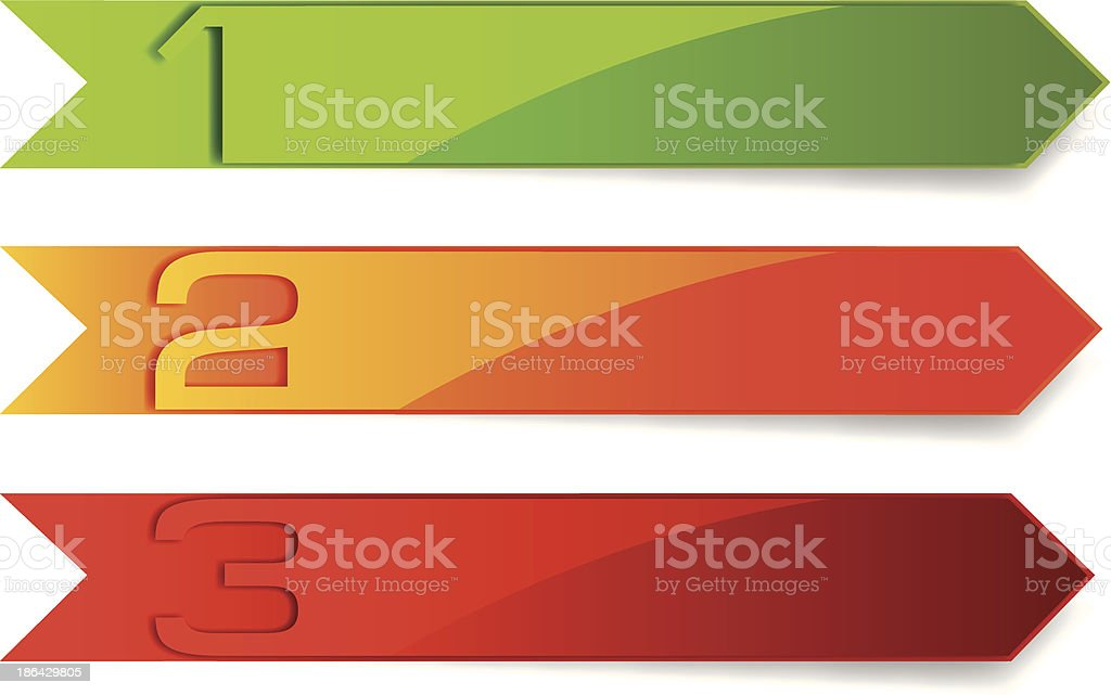 arrow set of position banner royalty-free stock vector art