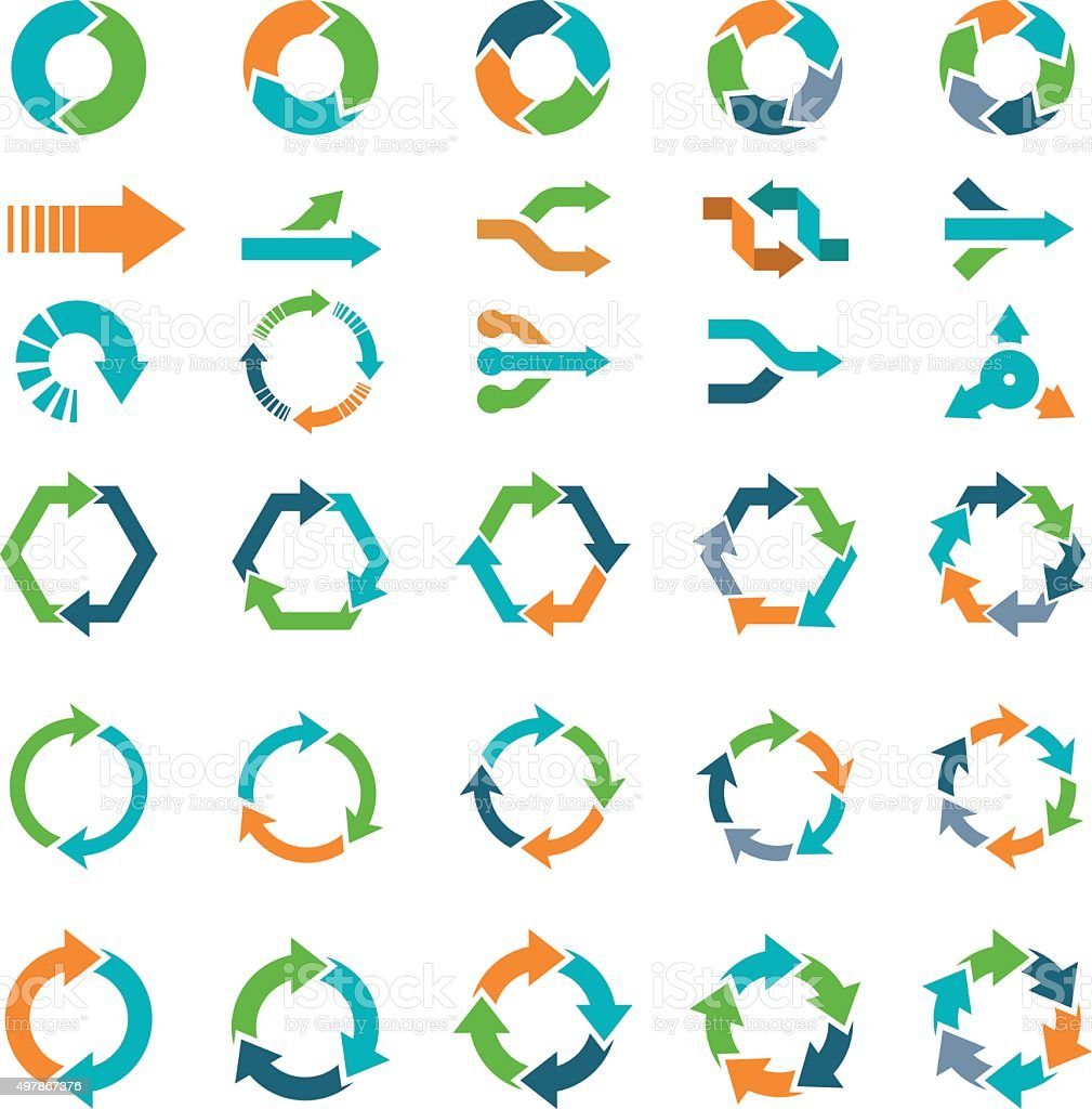 Arrow Set vector art illustration