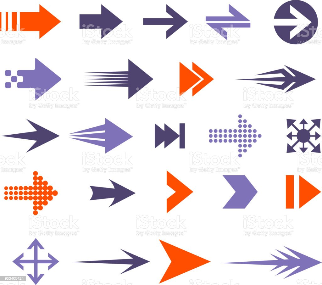 arrow set vector art illustration