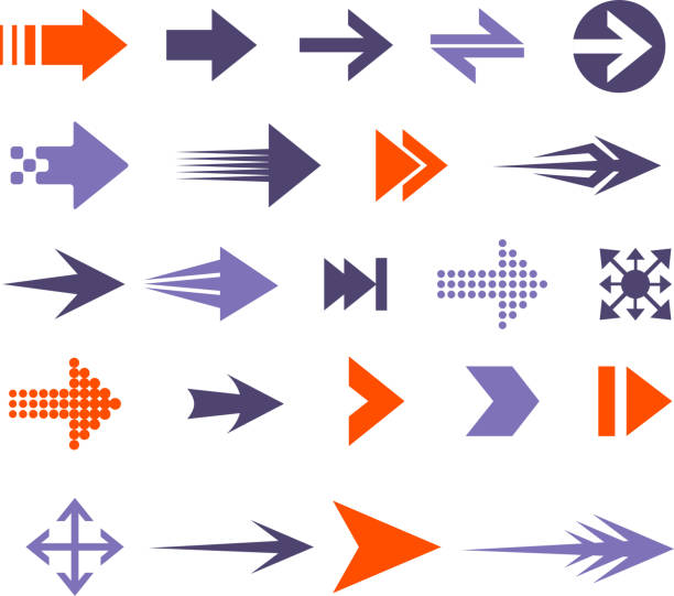 arrow set - arrows stock illustrations