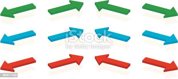 Arrow Set Stock Vector Art & More Images of Arrow Symbol 96947400