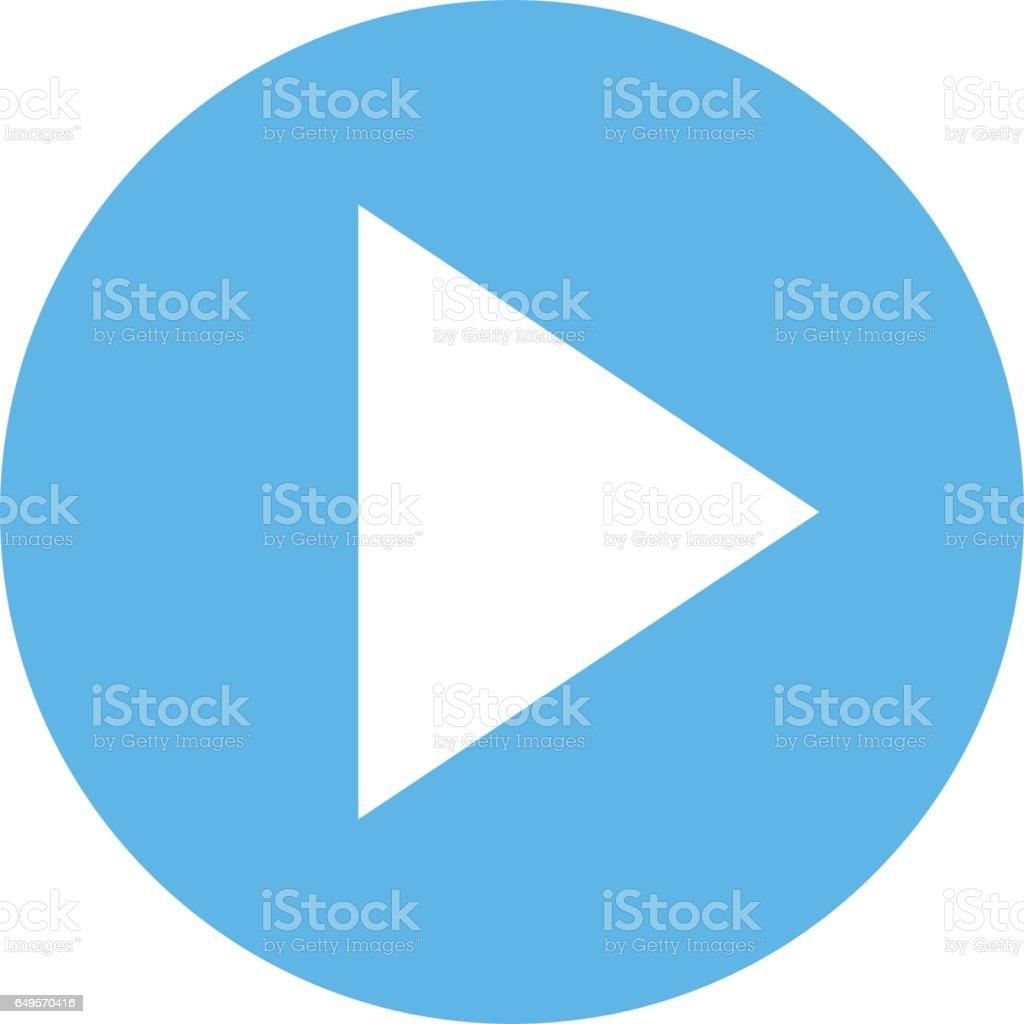 Flèche cercle signe icône bouton Play - Illustration vectorielle