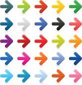 Arrow sign color satin icon web internet simple button