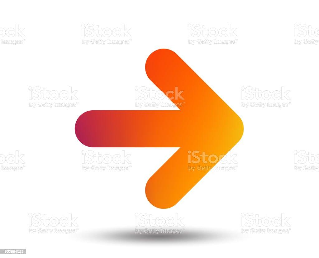 Flèche signe icône. Bouton suivant. Symbole de La navigation. flèche signe icône bouton suivant symbole de la navigation vecteurs libres de droits et plus d'images vectorielles de application mobile libre de droits