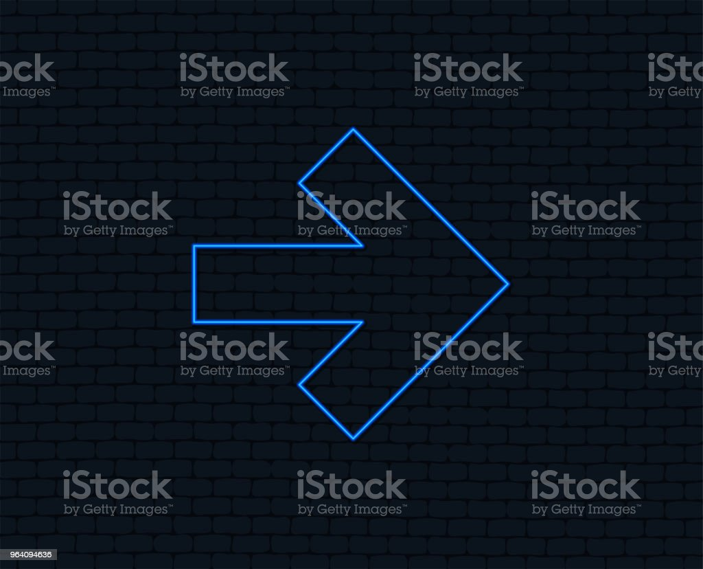 Arrow sign icon. Next button. Navigation symbol. - Royalty-free Arrow Symbol stock vector