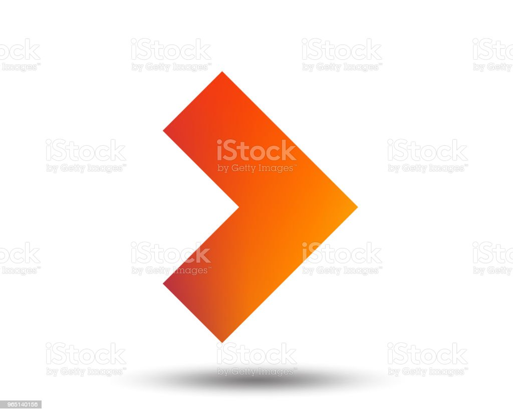 Arrow sign icon. Next button. Navigation symbol. royalty-free arrow sign icon next button navigation symbol stock vector art & more images of arrow symbol