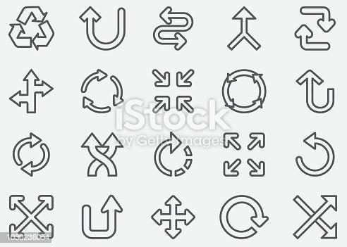Arrow Sign Line Icons