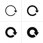 Arrow sign refresh reload rotation loop pictogram black icon