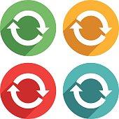 Arrow sign rotation Icons - VECTOR