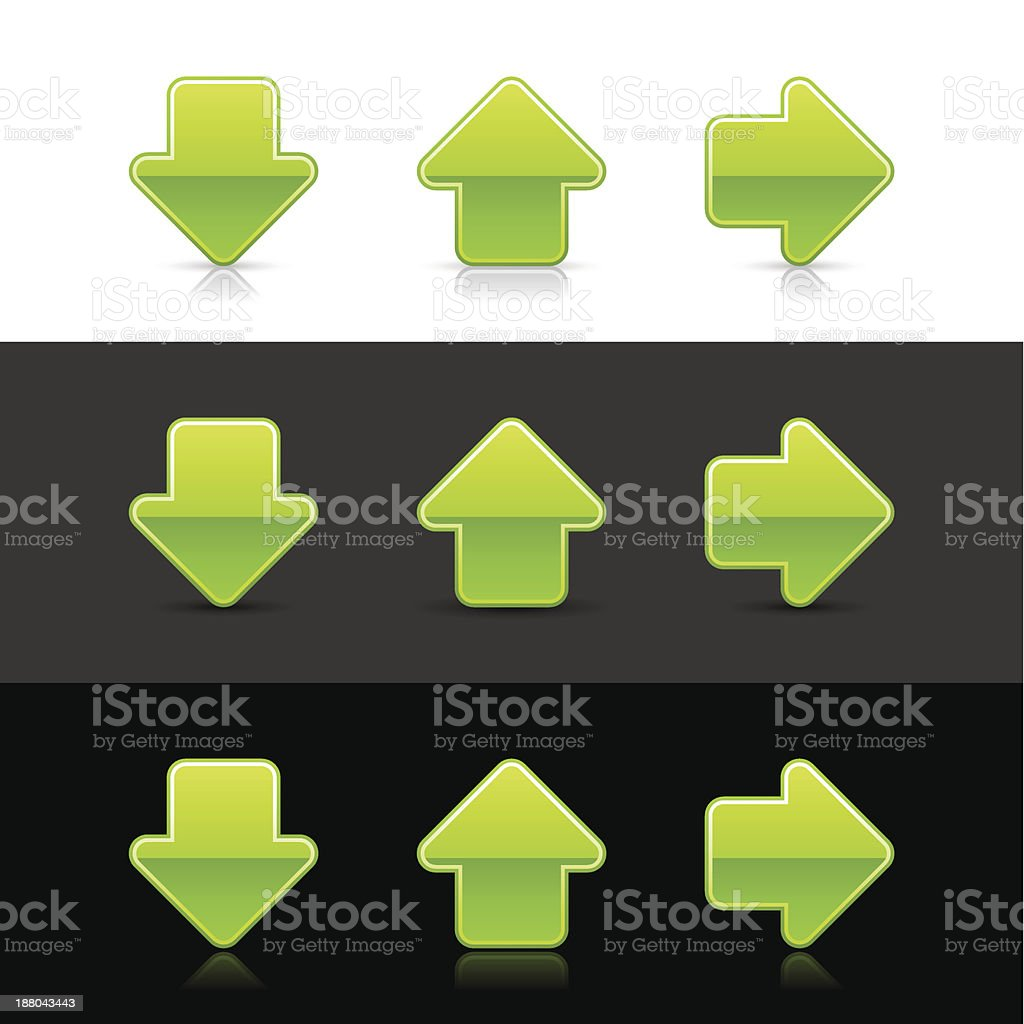 Arrow sign upload download right next web icon green button royalty-free arrow sign upload download right next web icon green button stock vector art & more images of application form