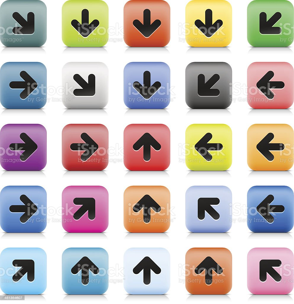 Arrow sign web button color internet icon black pictogram royalty-free stock vector art