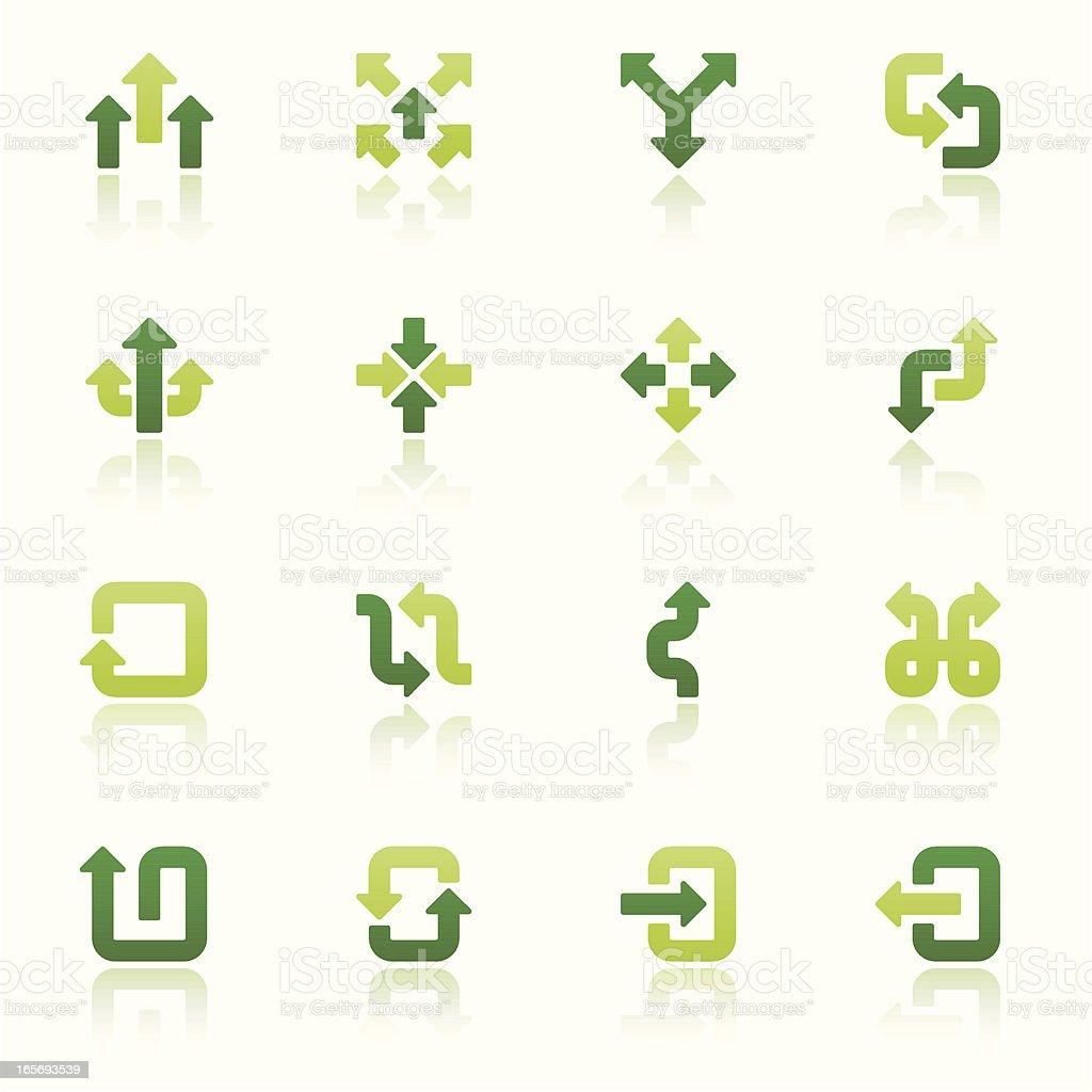 arrow signs icon set I fresh reflection vector art illustration