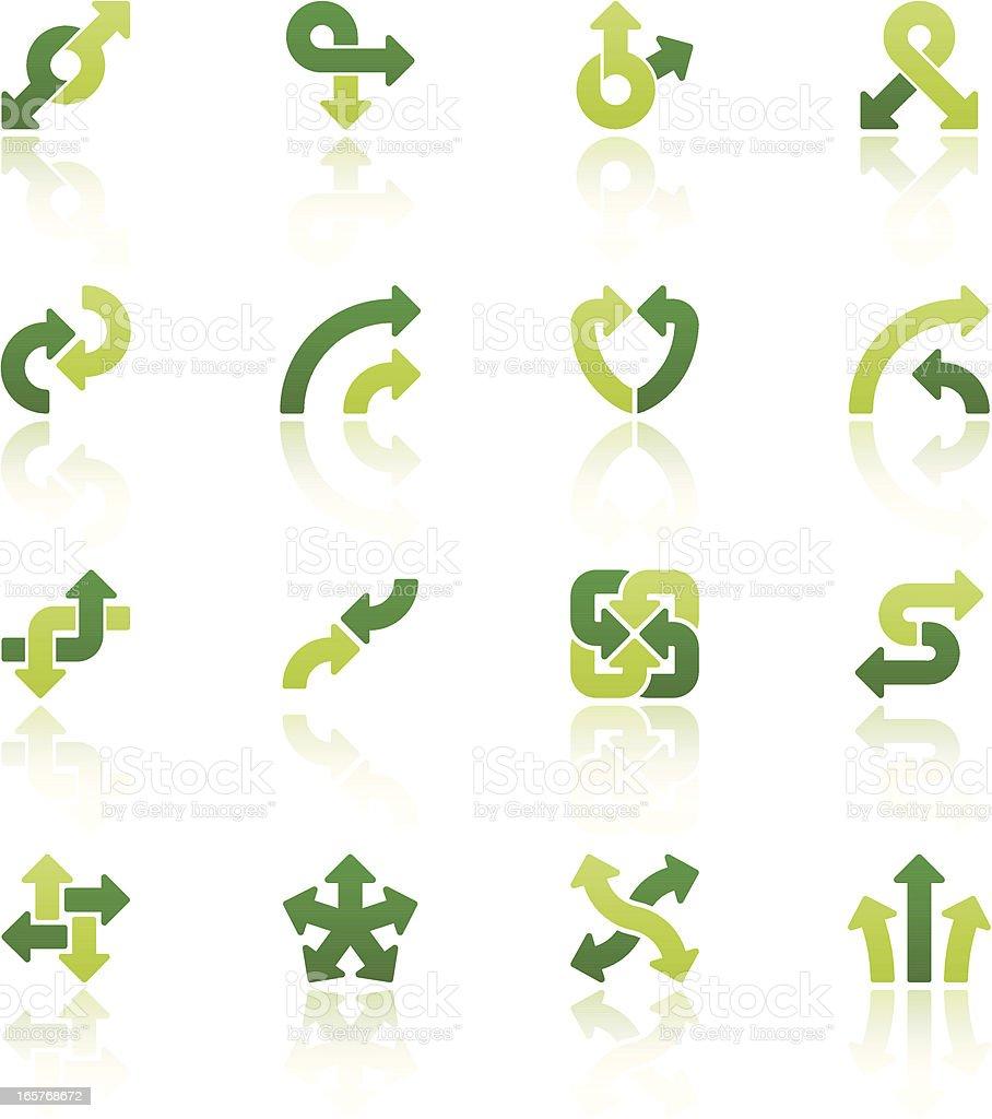 arrow signs quadro set IX vector art illustration