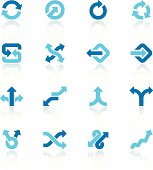 arrow signs set blue I