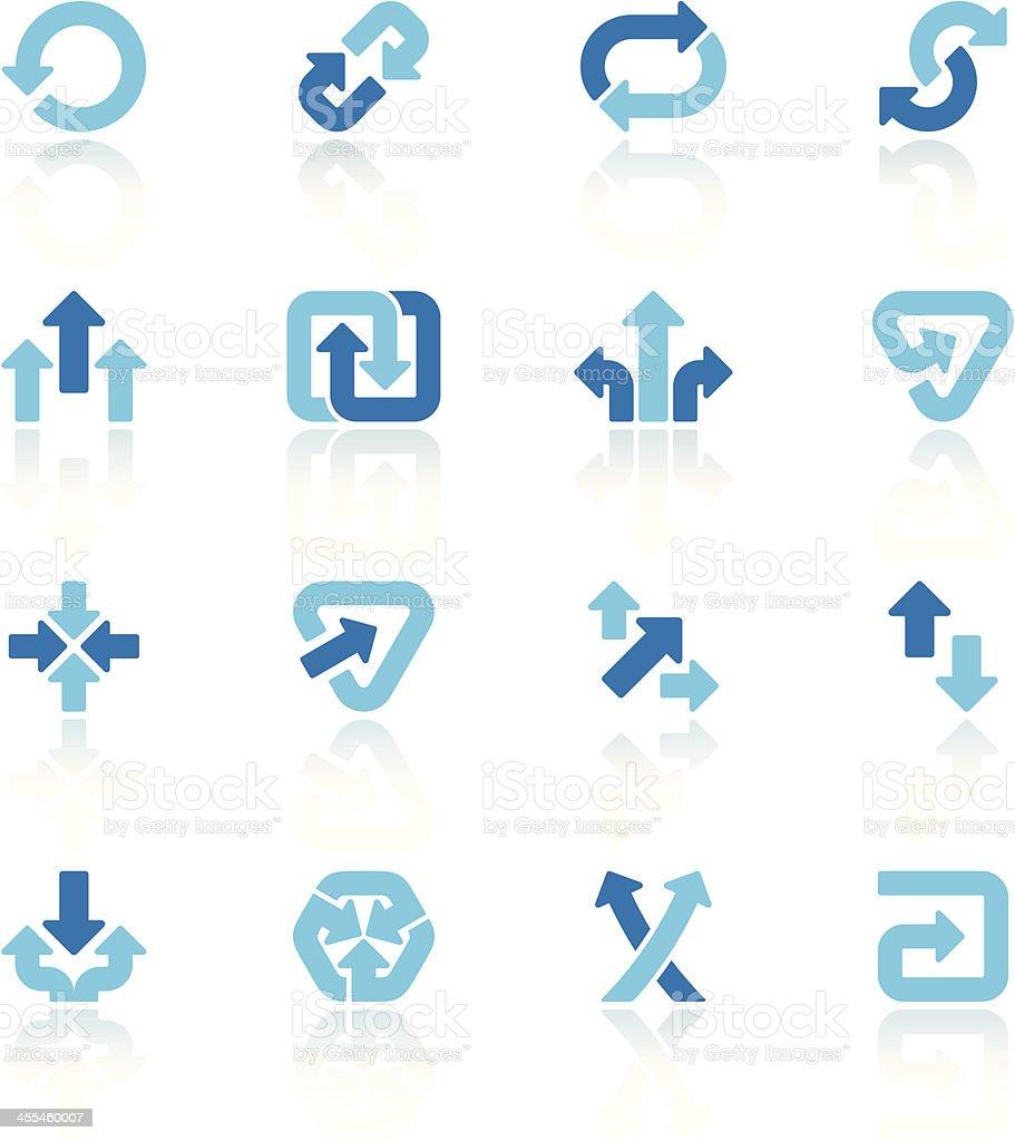 arrow signs set blue III vector art illustration